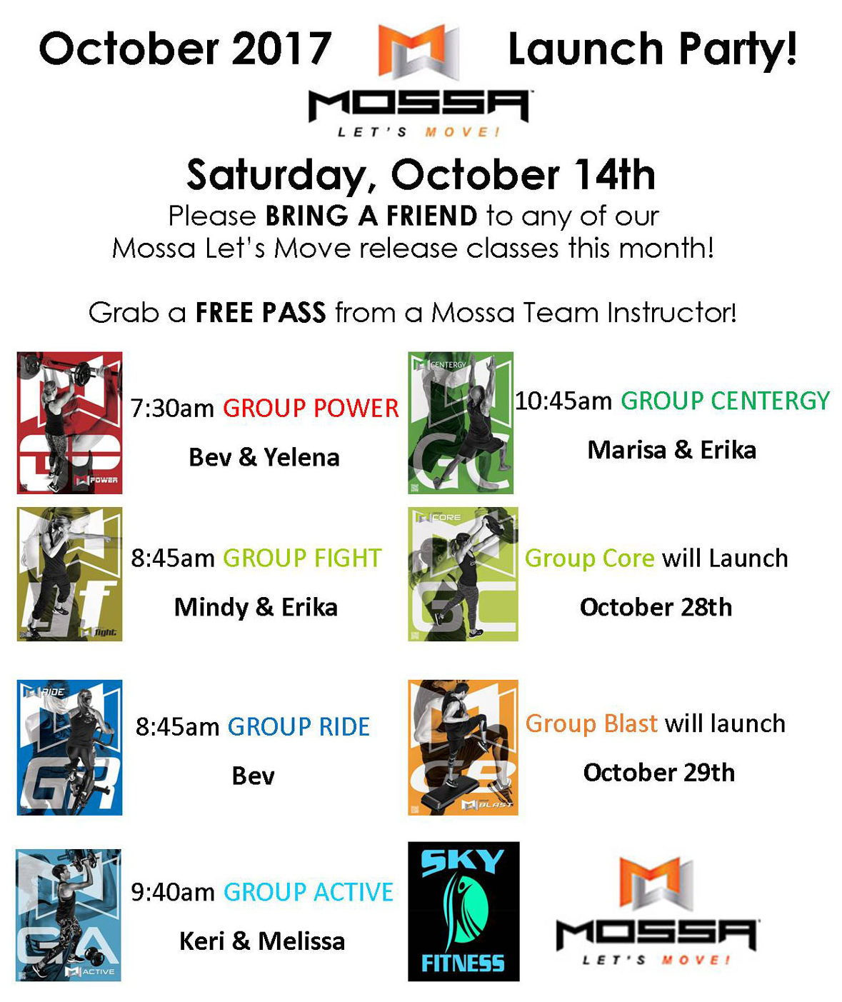 Mossa Launch Party Oct. 2017 - Sky Fitness Chicago