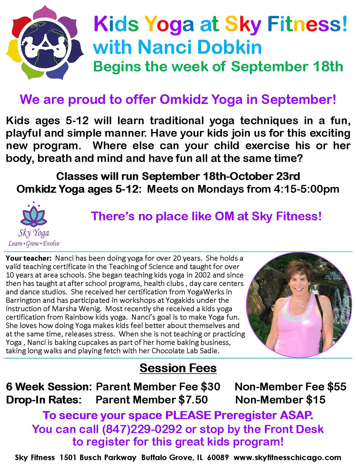 Omkidz Yoga September 2017 - Sky Fitness Chicago
