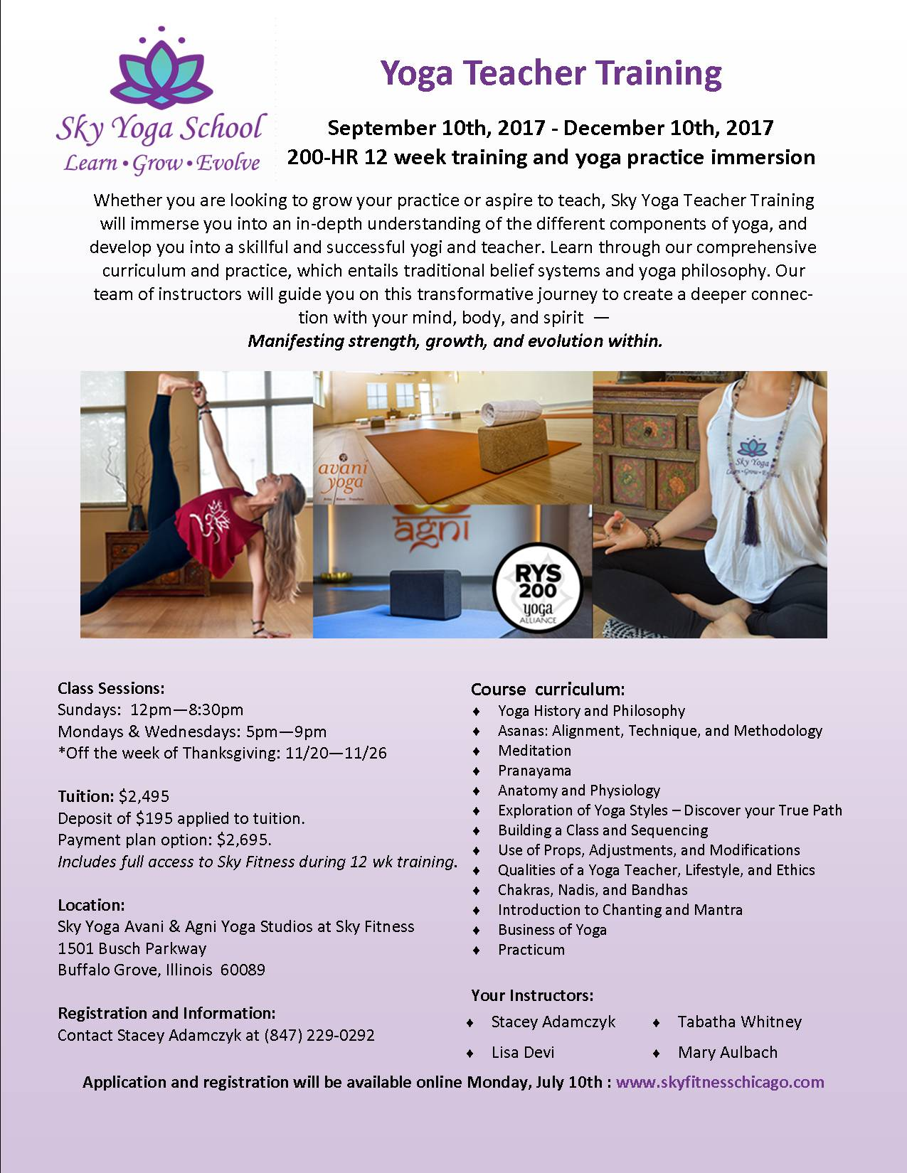 Sky Yoga School - 200 hr Teacher Training