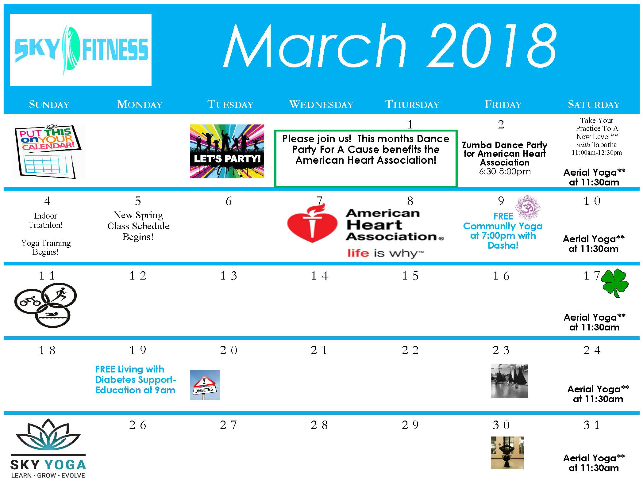 March-2018-Calendar - Sky Fitness Chicago